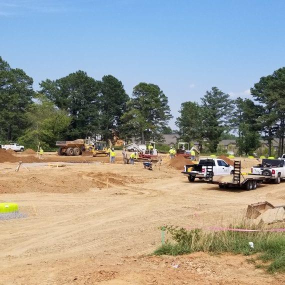 Merit Construction Site Ground View
